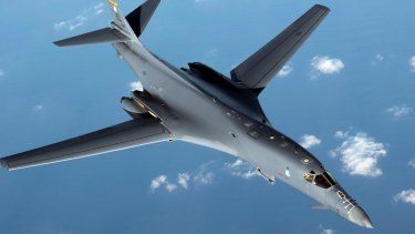 Pyongyang says it is ready to shoot down US military aircraft, such as this  US Air Force B1-B Lancer.