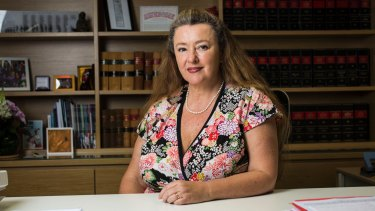 'People who feel under threat by change see female change agents as more threatening than male ones': Pauline Wright, president of the Law Society of NSW.