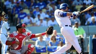 Baseball star Adrian Gonzalez of the Los Angeles Dodgers.