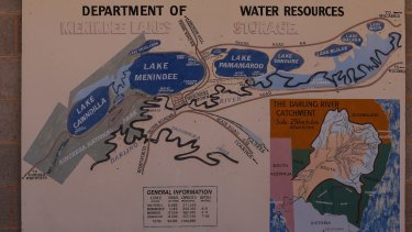 A map detailing the Menindee Lakes scheme.