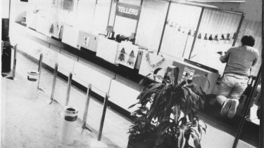 Security camera image of Frank Vitkovic during the 1987 Queen Street massacre.