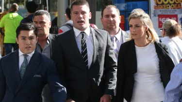 Shaun Kenny-Dowall is accused of assaulting his former girlfriend Jessica Peris.
