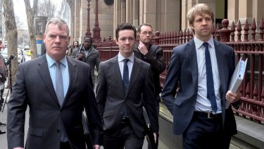 Slater and Gordon lawyers Rory Walsh, Andrew Baker and Andrew Paull.