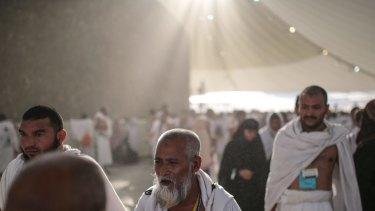 Muslim pilgrims at the annual Haj in Saudi Arabia, where temperatures may one day be too hot for humans.