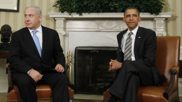 Divergent views: US President Barack Obama and Israeli Prime Minister Benjamin Netanyahu seemed reluctant to let their eyes meet when they met in the White House in May last year.