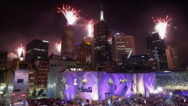 Melbourne's fireworks play a distinctly second fiddle.