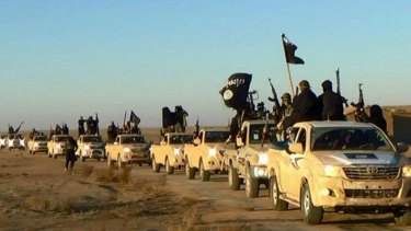 Islamic State fighters in Raqqa, Syria.