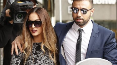 Fatima Mehajer leaves the Downing Centre Court Complex on Thursday.