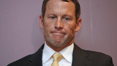 Fallen idol: Lance Armstrong.