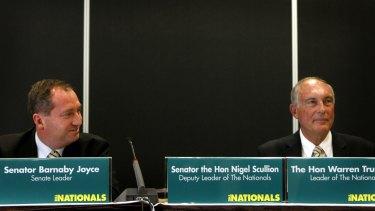 Leader of The Nationals in the Senate Senator Barnaby Joyce with Leader of The Nationals Warren Truss October 25, 2008.