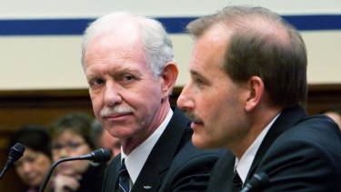 'Tache team: Captain Chesley  Sullenberger. who made an emergency landing in New York's Hudson River in 2009, with First Officer Jeffrey Skiles.