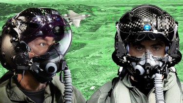 Heads up: A composite image showing the latest F-35 Helmet Mounted Display System.