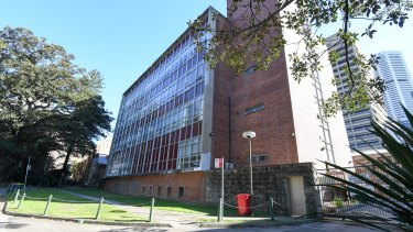 The court building facing Hospital Road and the Domain is earmarked for demolition.