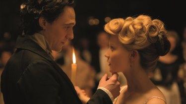 Mysterious figure: Thomas Sharpe (Tom Hiddleston) and Edith Cushing (Mia Wasikowska) enjoy their 'Cinderella moment' in <i>Crimson Peak</i>.