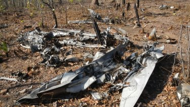 The wreck of the RAAF Spitfire discovered in Litchfield National Park, NT.
