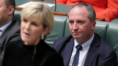 Minister for Foreign Affairs Julie Bishop and Deputy Prime Minister Barnaby Joyce.