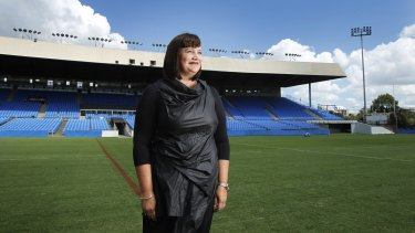 In the race for the top job: Bulldogs boss Raelene Castle is on the shortlist to become the new CEO of the NRL.