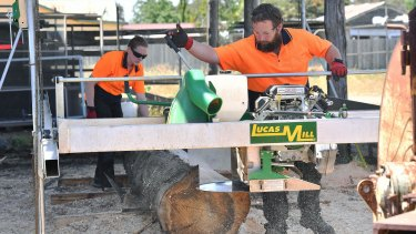Ricky Muir and his wife Kerrie-Anne at their newly purchased mill.