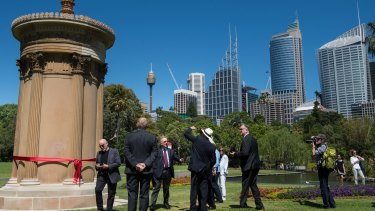 Lysicrates Monument unveiled at Sydney's Royal Botanic Gardens.
