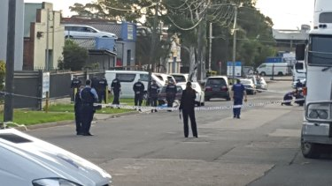 The scene of the shooting at Ilma St, Condell Park.