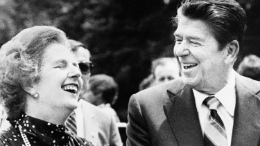 US President Ronald Reagan and British Prime Minister Margaret Thatcher pushed privatisation and deregulation.