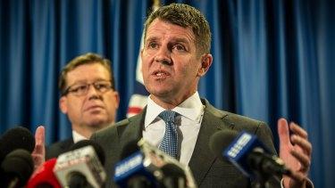 NSW Premier Mike Baird and Deputy Premier Troy Grant.
