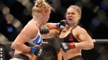 Beaten: Ronda Rousey was knocked out by Holly Holm.