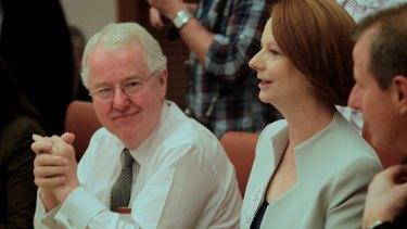 Australia's former top public servant Terry Moran with then prime minister Julia Gillard in 2011.