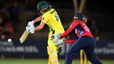 Poise: Beth Mooney works the ball away.