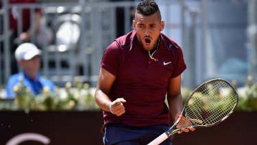 Pumped: Nick Kyrgios is desperate to play for Australia at the Olympics.