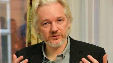 WikiLeaks founder Julian Assange in Ecuador's embassy in London.