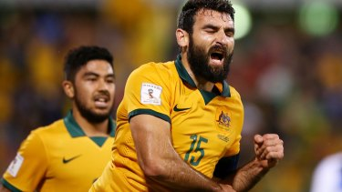 Straight shooter: Mile Jedinak.
