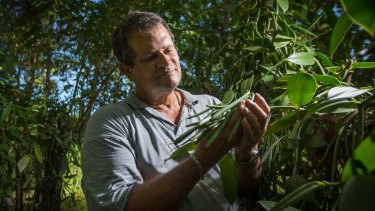 George Gonthier, owner of Daintree Vanilla & Spice. Queensland's climate is perfect for cultivating vanilla.