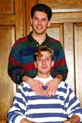 Jim Obergefell and John Arthur (seated) in 1993. Two decades later, a medical diagnosis would tear their world apart.