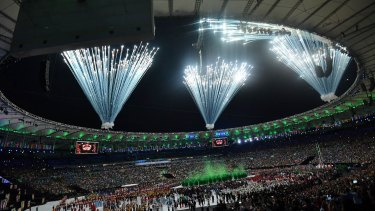 The Rio Olympic opening ceremony, Maracana Stadium.