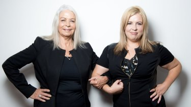 Advocates for national action against family violence Marcia Langton (left) and Josephine Cashman.