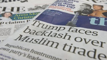 Out of favour: a general view of the front pages of British national newspapers in London, England.