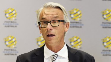 Meeting with the clubs: Football Federation Australia chief executive David Gallop.