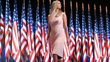 'Entirely unremarkable': Ivanka Trump wears a dress from her clothing line at last year's Republican National Convention.