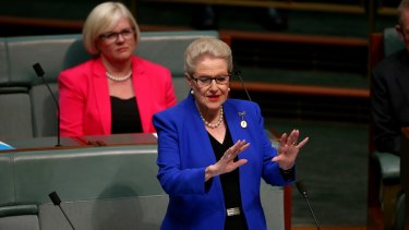 Former Speaker Bronwyn Bishop delivers her valedictory address.