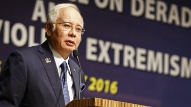 Under fire: Malaysian Prime Minister Najib Razak faces ongoing corruption allegations.