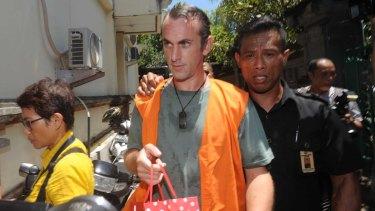 David Taylor arriving at Denpasar District Court last week.