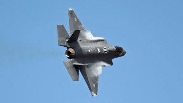 One of the two new Australian Joint Strike Fighters at the Avalon Airshow in March.