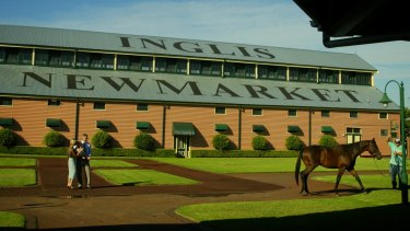 Members of the Inglis family outside the stables.