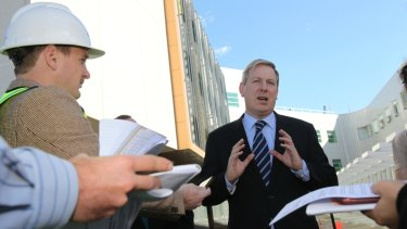 Opposition transport spokesman  David Davis said an elevated rail line would create a 'visual eyesore'.