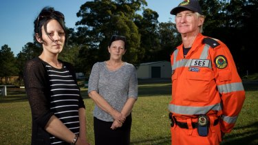 Karlee and mother Cheryl Butler and Camden Haven SES volunteer Gordon Hutchinson were among the volunteers who assisted in the search for William Tyrrell.
