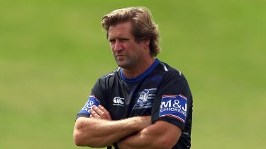 Coach Des Hasler's fate will be decided today.