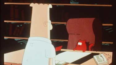Dilbert (Daniel Stern) and Catbert (Jason Alexander).