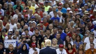 Donald Trump speaks to supporters in Florida last week.