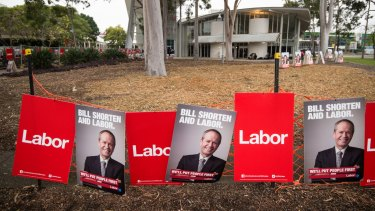The Labor Party  launched its campaign on Sunday but may struggle for election-day signage.